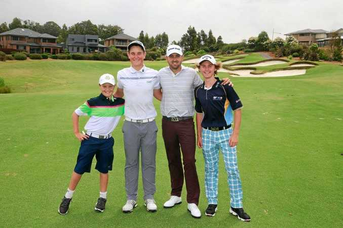 RUNNERS-UP: Willow Harris (right) with his team finished runners up in the Golf NSW Junior Pro-Am at Stonecutters Ridge Golf Course.