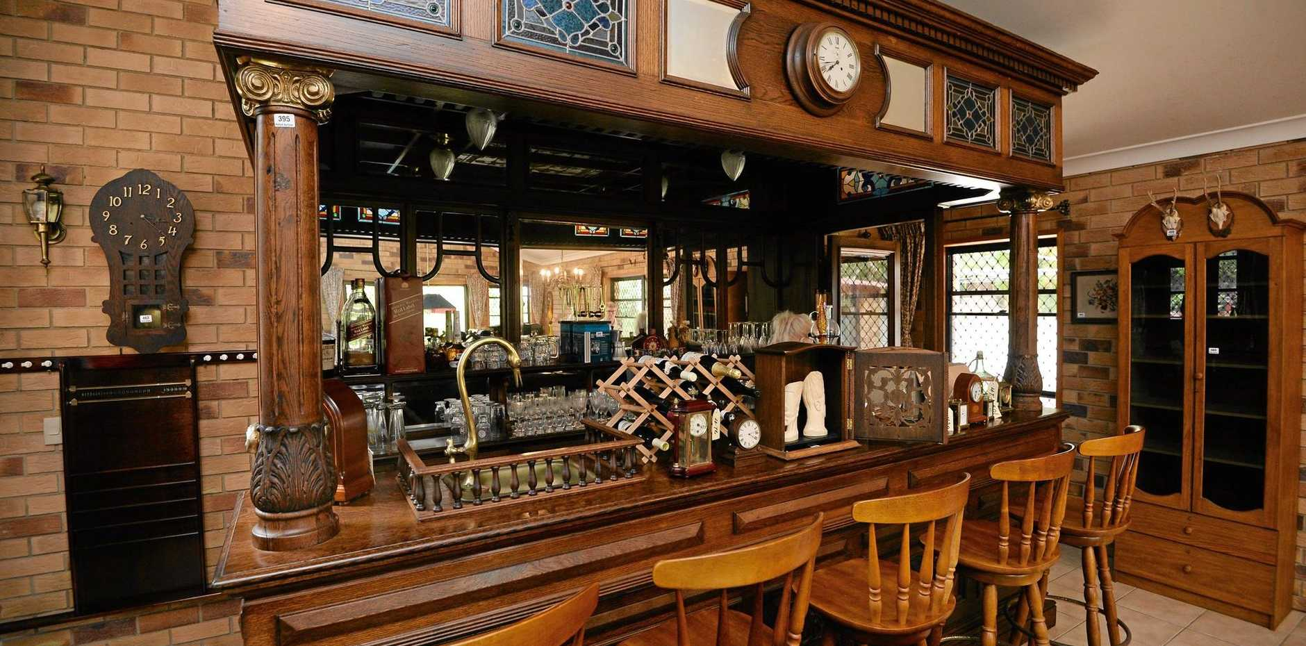 This unique bar could fetch up to $50,000 in today's giant antique auction.