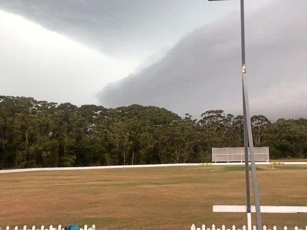 OMINOUS: A storm front approaches John Blanck Oval at Buderim.