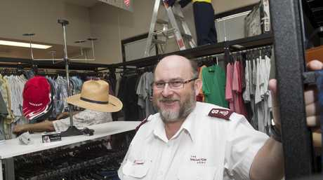 Major Robert Duncan at the new Salvation Army Toowoomba Family Store.