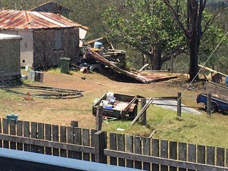 Property destruction in North Aramara following the storm on November 12.