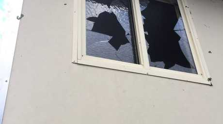 Windows of Ned Kellly's Motel in Tinana were left smashed following a hail storm on November 13.