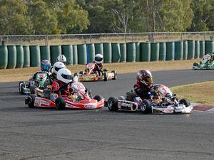 Eighty-four karts racing at Sandy Creek Raceway today