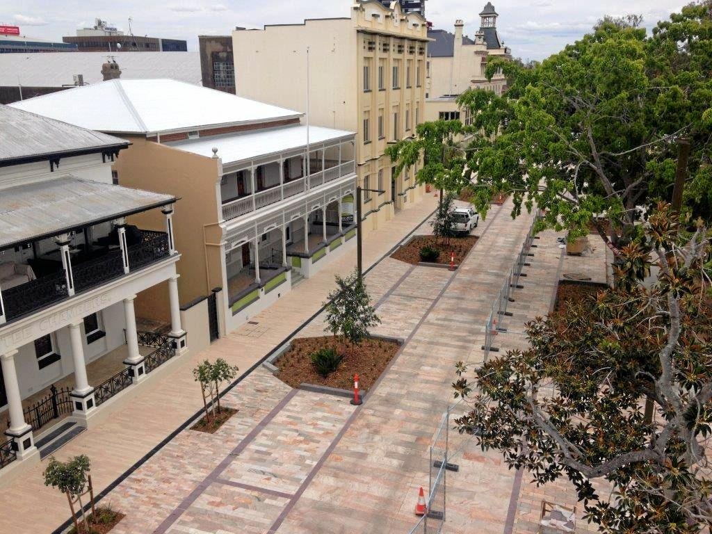 An electrician shared this photo of Quay St taken this week from a vantage point above the newly opened development.