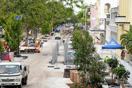 Quay Street progress.Photo Allan Reinikka / The Morning Bulletin