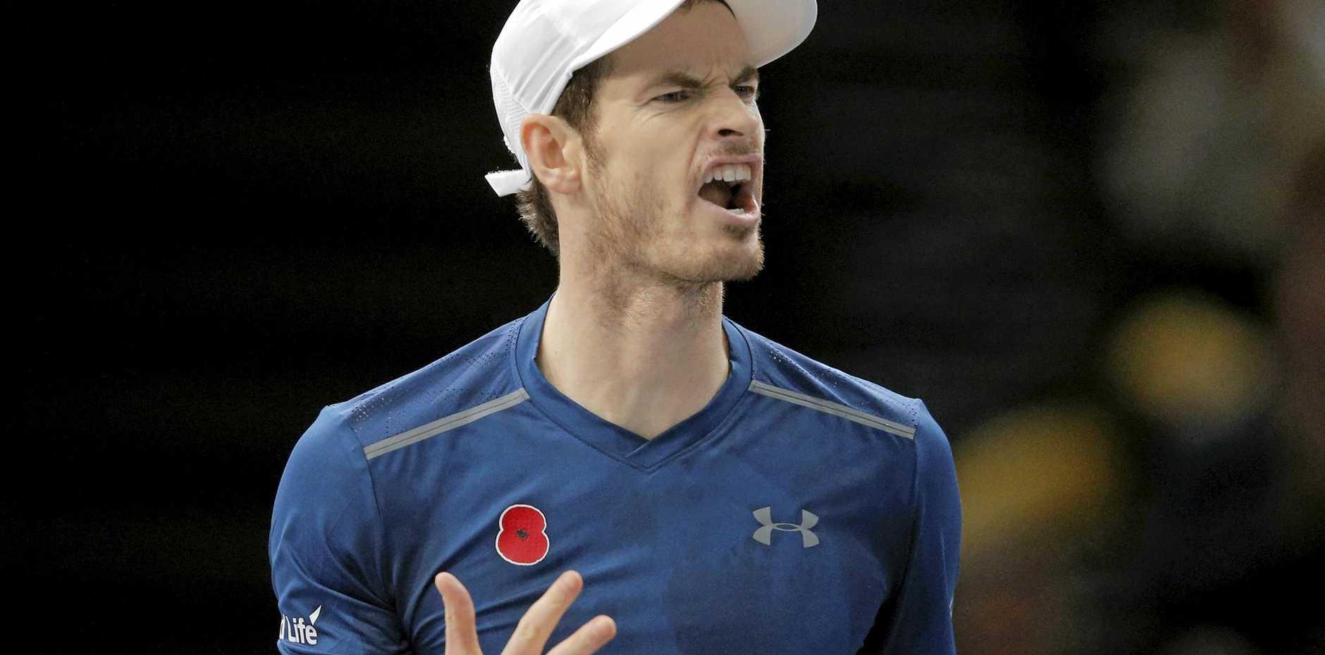 Britain's Andy Murray at the Paris Masters.