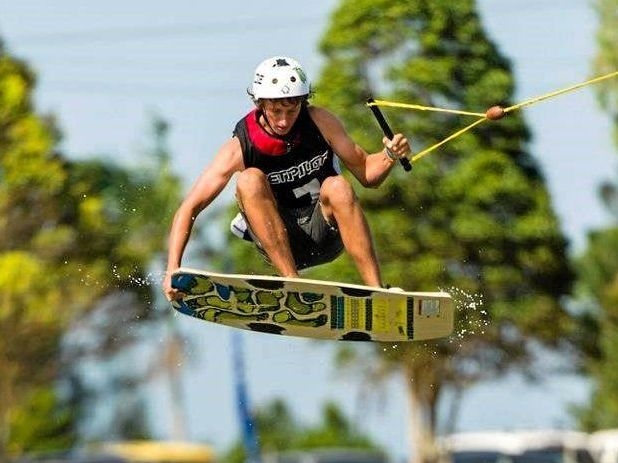 AIR TIME: Cody Murphy is among the nation's best wakeskaters.