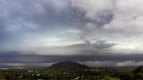 The storm front rolls towards the Coast on Saturday afternoon.