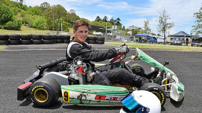 ABOVE: Jake Wheeler, 16, of Casino, raced in the seniors category for the first time at the Northern Rivers Kart Club meeting yesterday.