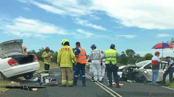 Two women were treated at Lismore Base Hospital following a crash on Nimbin Rd. PHOTO: Keziah Selassie McMillan