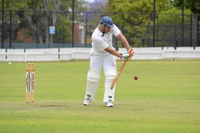 BACK TO THE FUTURE: Rohan Hackett was involved in an eye-catching 88-run partnership with Westlawn teammate Jason Rainbow at Ellem Oval last week.