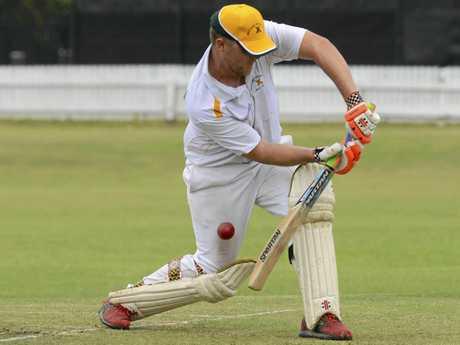 Westlawn batsman Jason Rainbow during the CRCA premier league match between Tucabia and Westlawn at Ellem Oval on Saturday, 12th November, 2016.
