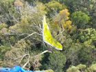 The search for a hang glider missing near Double Island Point has ended in tragedy.