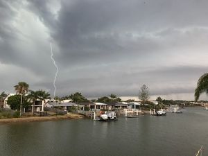 Lightning strikes over Mooloolaba