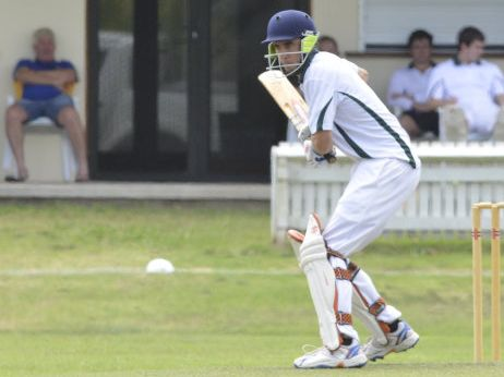 Matt Robins batting for GDSC Easts in the Clarence River Cricket Association GDSC Premier League match between Harwood and GDSC Easts at Ellem Oval on Saturday, 24th of October, 2015. Photo Bill North / Daily Examiner