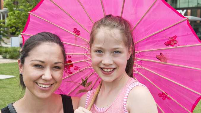 Olivia Gregg and Taliah Gregg at the Nihon Matsuri Japan Festival in the Civic Precinct.