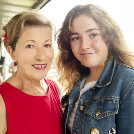 SONGSTRESS: Mullumbimby High School Student Rose Eadie, winner of the Mullumbimby Agricultural Show's Song Contest judge Clelia Adams.