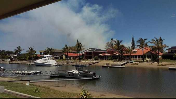 Photo taken from West Ballina looking toward the South Ballina bushfire.