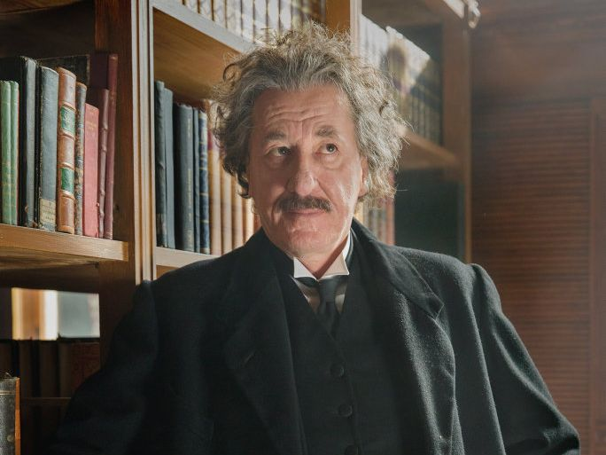 Geoffrey Rush as Albert Einstein in a scene from National Geographic's mini-series Genius.