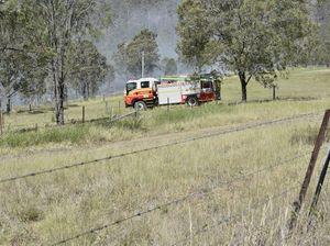 Fire threatens home