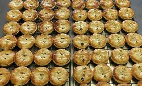 Pies at Walkerston Bakery.