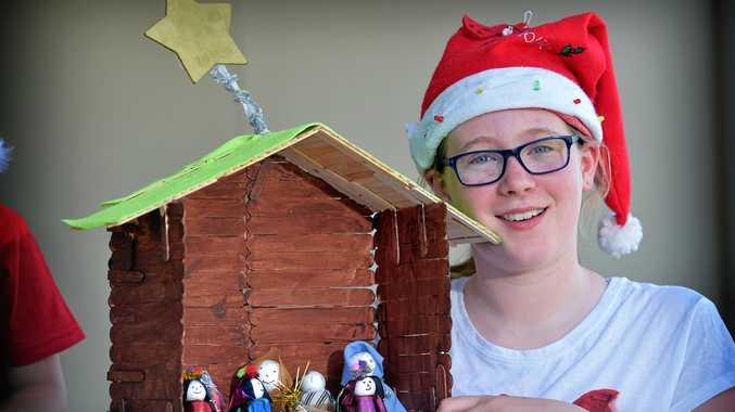 FESTIVE FUN: Emma Harris ready to help spread the Christmas cheer.