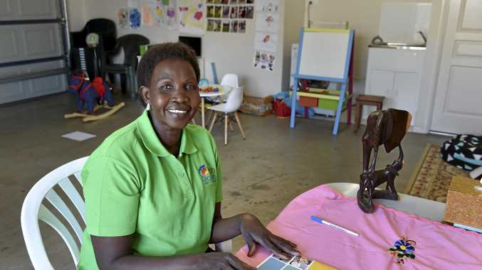 Family day care educator Nyadier Pac in her new Kath Dickson-registered family day care business named after her late older brother Erjok Apech Erjok.
