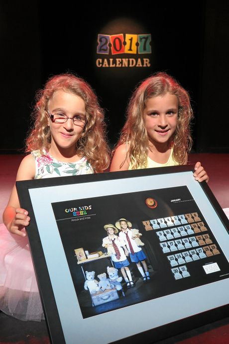 Anouk and Indi are featured in the 2017 Our Kids calendar.