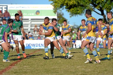 Former Souths player Ross Turi had to be evacuated.