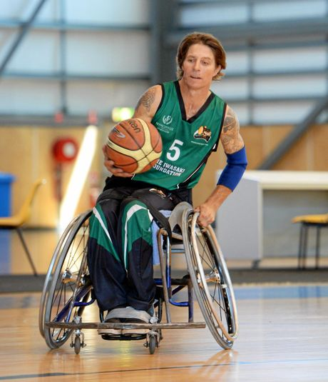 Wheelchair basketballer Jason Holohan.   Photo: Chris Ison / The Morning Bulletin