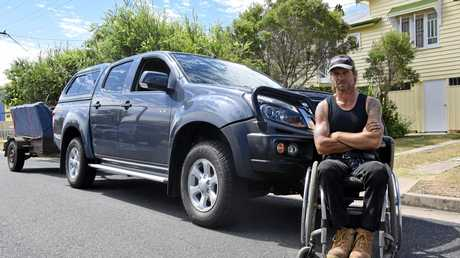 Jason Holohan with his ute and trailer which were thankfully recovered.