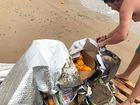 Rhys Collings was disgusted to find rubbish trashed at Lilleys Beach recently.