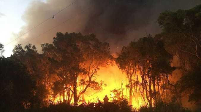 The bushfire at South Ballina.