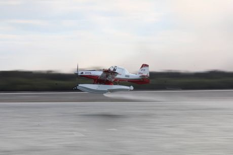 Joey Chapman took this high speed blur shot of the Water Bomber Monday afternoon in Ballina.
