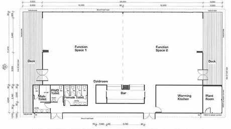 Floor plans for a new function facility at Korte's Resort Parkhurst.