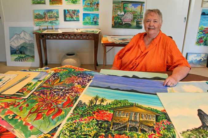 STUDIO CLEARANCE: Buderim artist Val Ross is selling all her art to raise money for Cittamani's palliative care services.