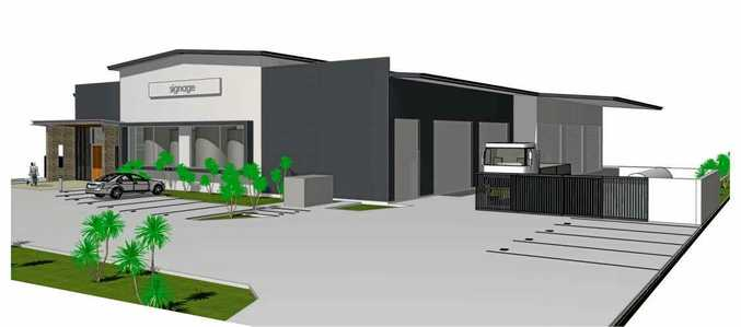 Streetscape images show a new brewery planned to be built on Rene St at Noosaville.