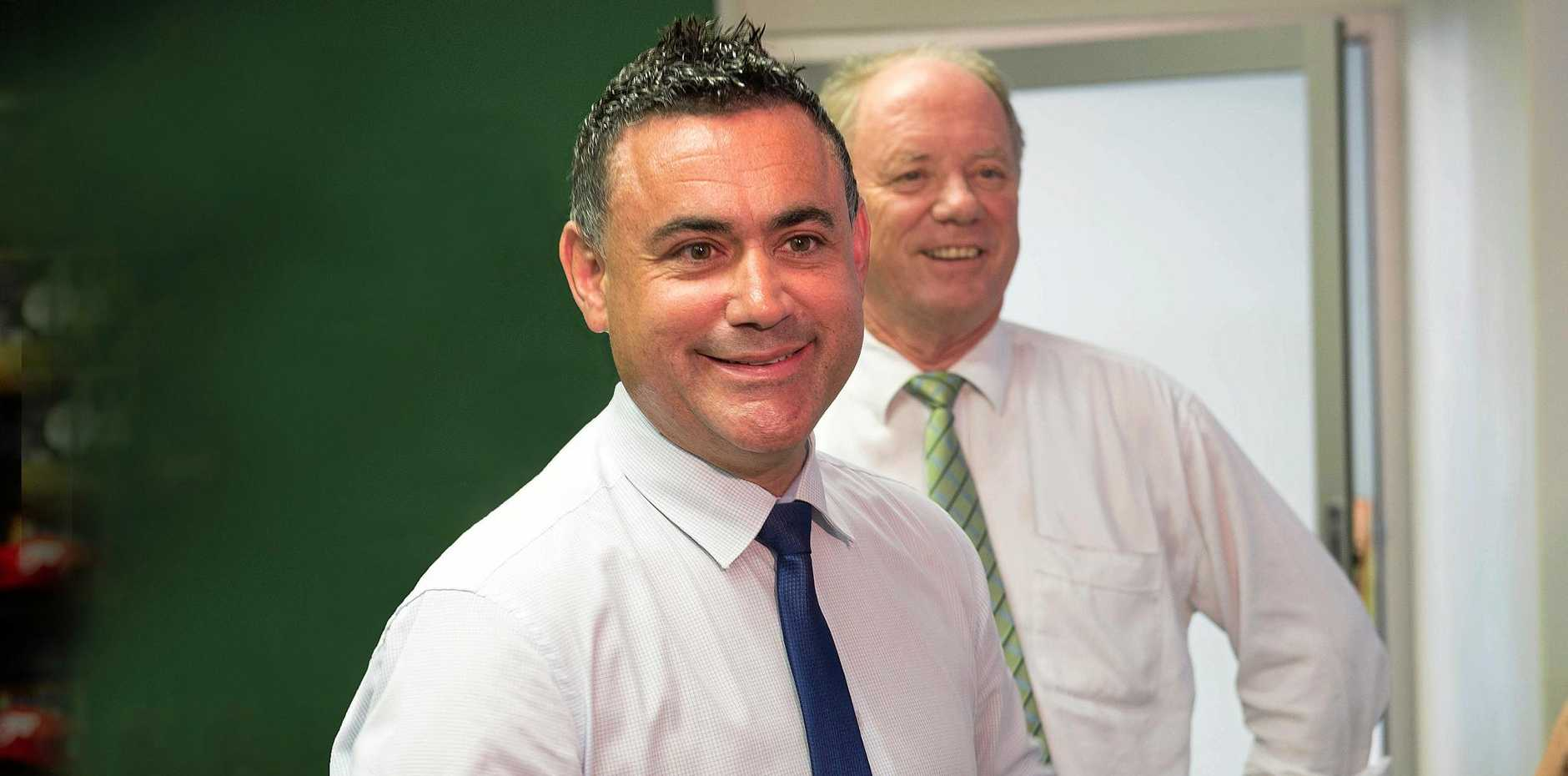 File photo: John Barilaro and Coffs Harbour MP Andrew Fraser.