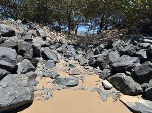 DAMAGE: Local beaches are 1 metre lower than last week