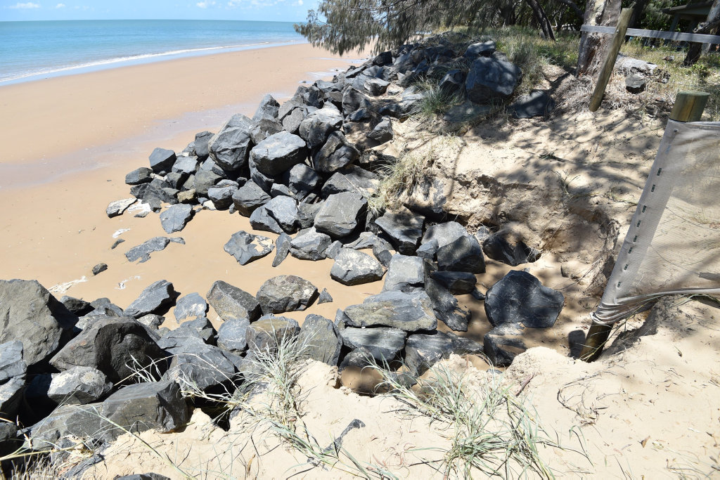 Erosion at Shelly Beach - access to beach has been cordoned off.
