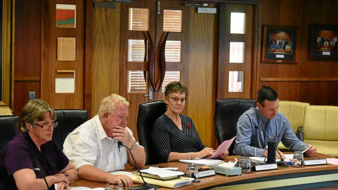 SPECIAL MEETING: Deputy Mayor Jan Chambers, Cr Peter Flynn, Cr Puddy Chandler and Cr David Schefe discuss the buyer's fee.