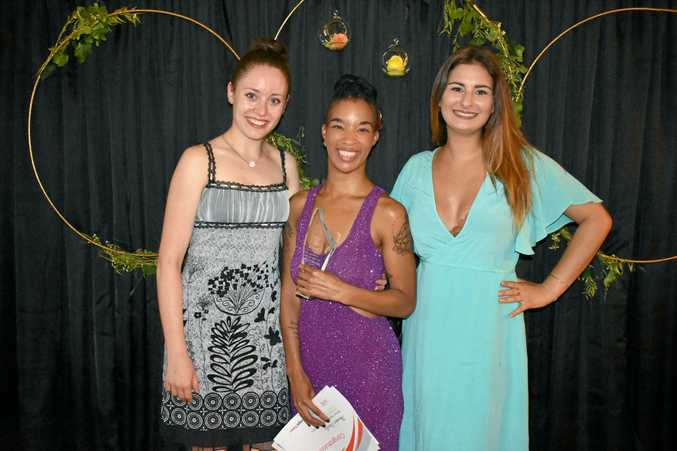 POPULAR: Accepting the award for Awake Studios (from left) were Emma Allen, Abby Wake and Layla Keep.
