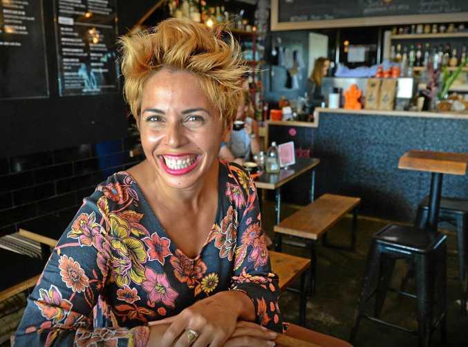 RUNAWAY SUCCESS: Esther Bundellu, co-owner of The Pocket Espresso Bar at Moffat Beach.