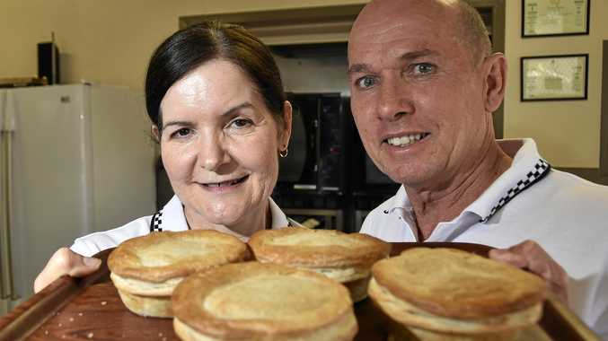 NUMBER ONE: Shelley and Kim Waters are thrilled J Jaks pies have been voted the best in Toowoomba.