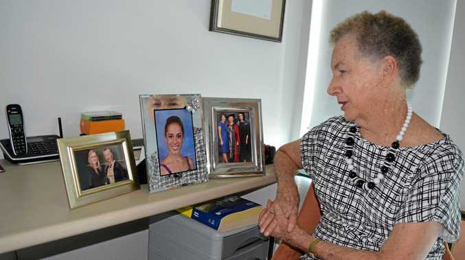 GENOROSITY: Noosaville woman Laurie Cowled looks on at some of the students she's helped through her philanthropy, something that's earned her a nomination as Senior Australian of the Year.