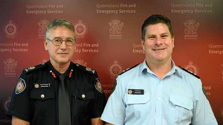 QRFS Regional Manager Brian Smith and Assistant Commissioner Ewan Cayzer