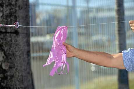 The underwear thief struck without warning.