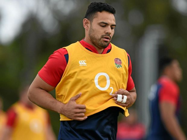 Ben Te'o during an England rugby union team training session.