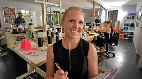 GOING PLACES: Megan Dive at her home-based fashion business, Studio Evolve.