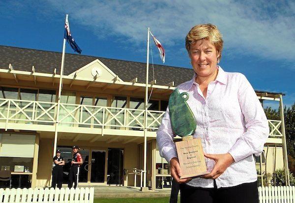 Newly elected New Zealand Cricket president Debbie Hockley.